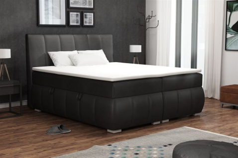 Boxspringbett Schlafzimmerbett VINCENZA 180x200cm inkl.Bettkasten