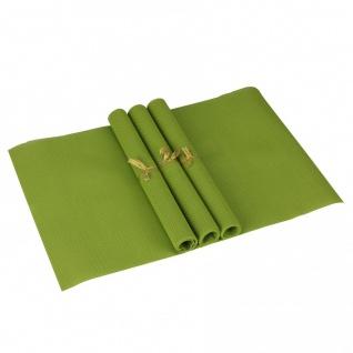 Tisch 4er Set Platzdeckchen 30 x 45 cm abwaschbar Dunkelgrün