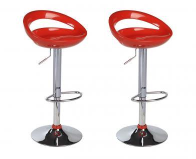 Barhocker Hocker - Nr 135 - Kunststoff Rot