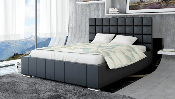 Polsterbett Bett Doppelbett MATTEO L 160x200cm inkl.Lattenrost