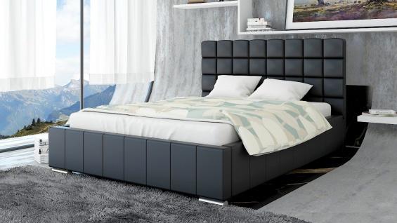 Polsterbett Bett Doppelbett MATTEO XL 200x200cm inkl.Bettkasten