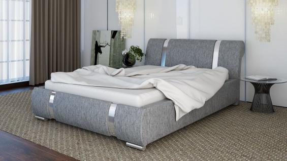 Polsterbett Bett Doppelbett CHLOE XS 140x200cm inkl.Lattenrost