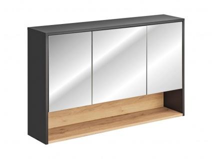 Badezimmer Spiegelschrank BURBON 75x120cm Graphit matt