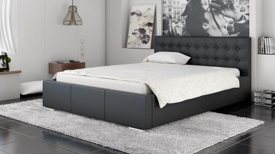 Polsterbett Bett Doppelbett GIANO 140x200cm inkl.Bettkasten