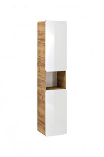 Badezimmer Hängeschrank 175x35x32 cm FERMO Weiss Hochglanz