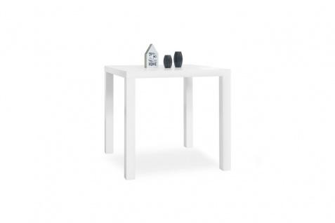 """Tisch Schreibtisch Bürotisch """" Prime"""" Dekor Hochglanz Weiss 80x80 cm"""