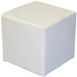 Sitzwürfel Sitzhocker Schminkhocker Hocker Sessel Kunstleder Weiß 45x42x42 cm