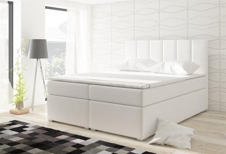 Boxspringbett Schlafzimmerbett SOPHIA Kunstleder Weiss 100x200cm