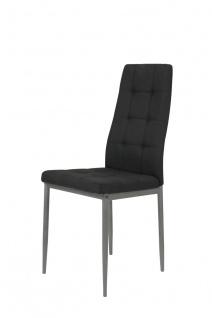 Esszimmerstühle Stühle Vierfußstuhl 4er Set LUISE Anthrazit / Grau