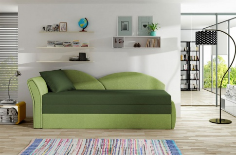 Sofa Schlafsofa inklusive Bettkasten ALINA / L- Limette / Grün