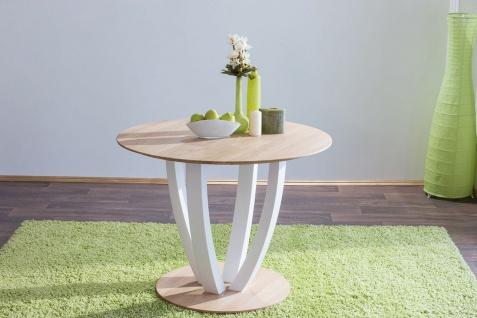 Esstisch Tisch STAR ER Wildeiche vollmassiv Echtholz 120 x 120 cm