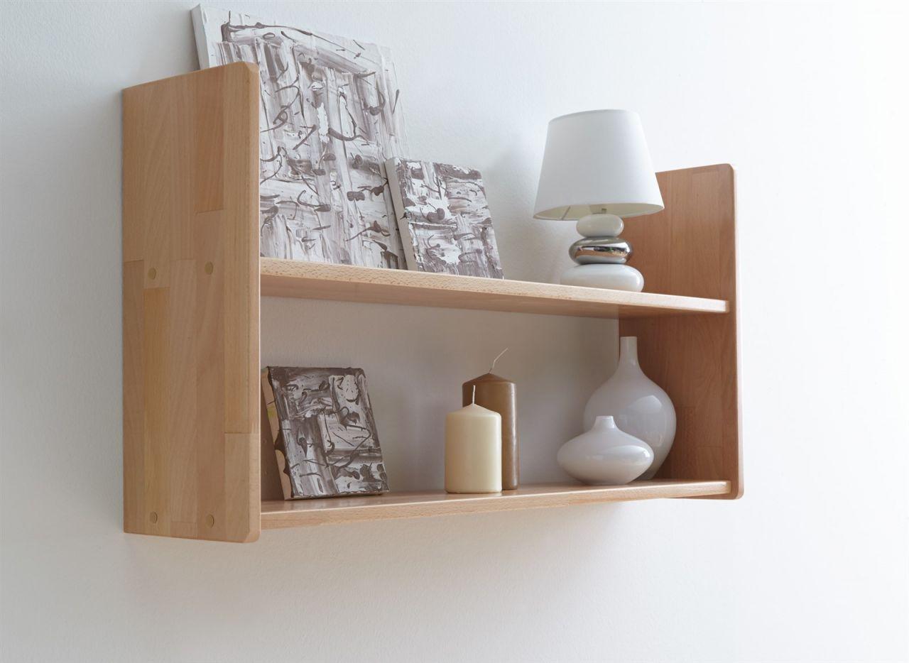 wandregal b cherregal awel nr 2 90x45 cm buche massiv. Black Bedroom Furniture Sets. Home Design Ideas