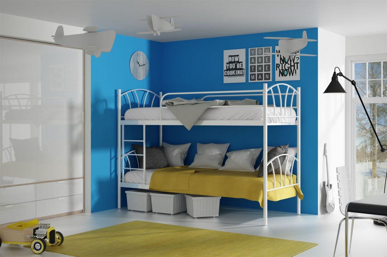 Etagenbett Zwei Einzelbetten : L etagenbett auf eck hochbett eckbett weiß umbaubar zu
