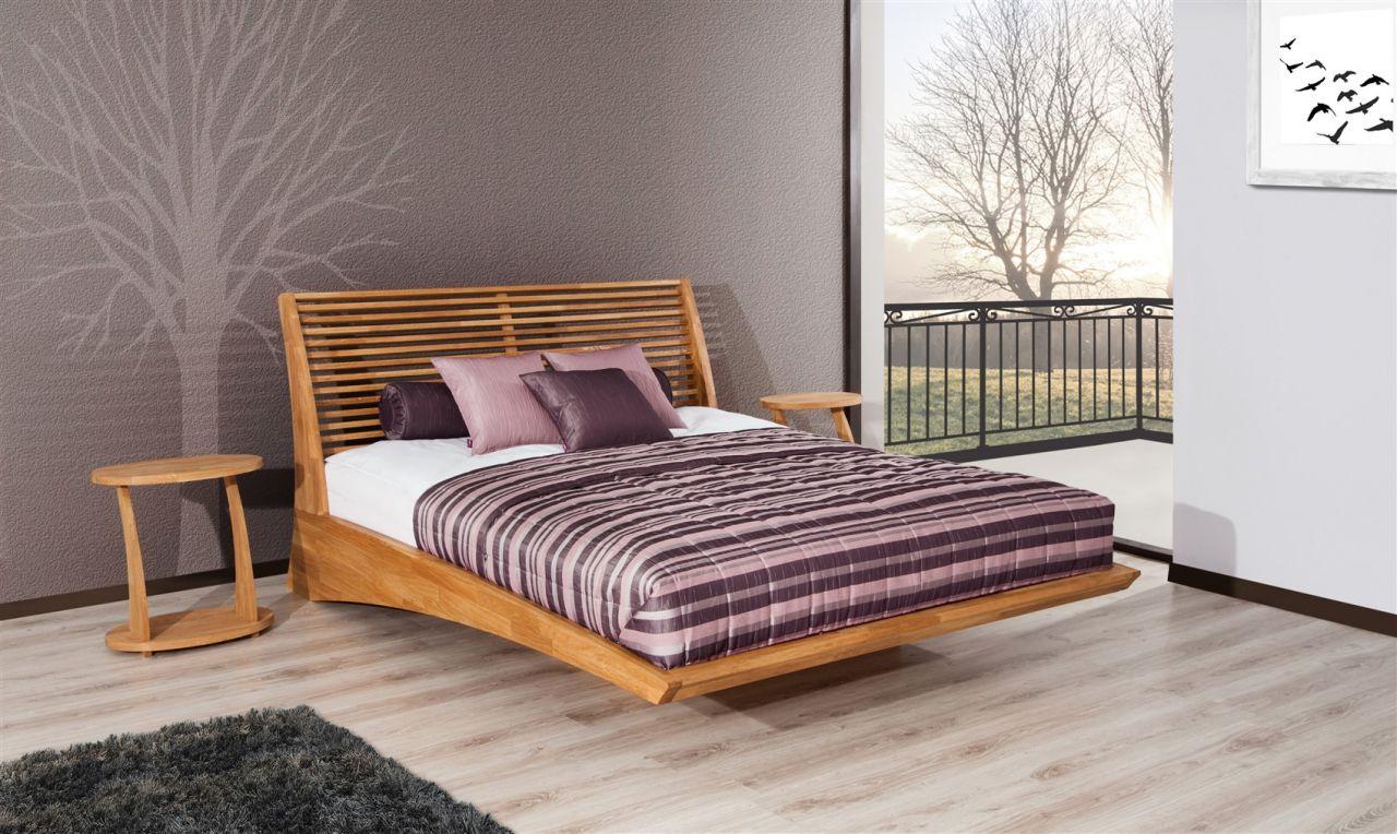 Massivholzbett Bett Schlafzimmerbett FRESNO Buche massiv 12x12 cm