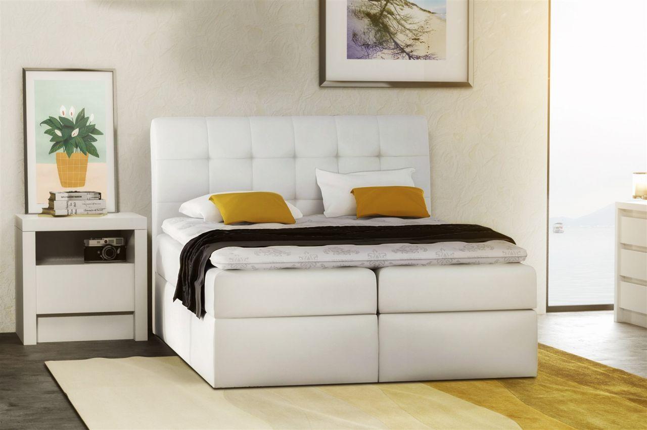 Verzauberkunst Schlafzimmer Bett Weiß Beste Wahl Boxspringbett Schlafzimmerbett Turin Kunstleder Weiss 200x200 Cm