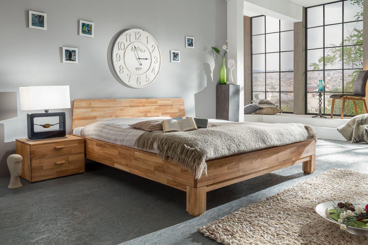 Massivholzbett Schlafzimmerbett Ivo Bett Wildeiche 160x200 Cm
