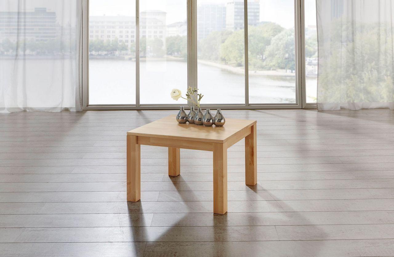 Couchtisch Tisch Malte Eiche Vollmassiv Echtholz 80 X 80 Cm