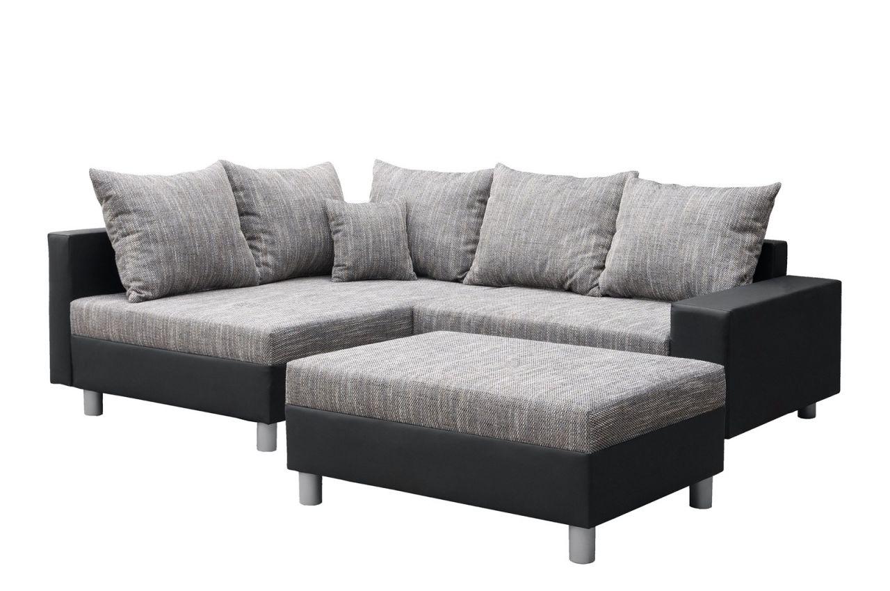 l couch schwarz grau. Black Bedroom Furniture Sets. Home Design Ideas