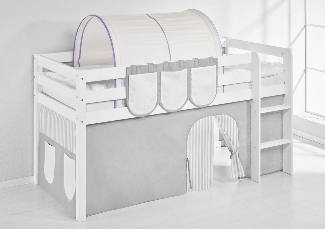 Etagenbett Zubehör Tunnel : Tunnel lila beige für hochbett spielbett und etagenbett