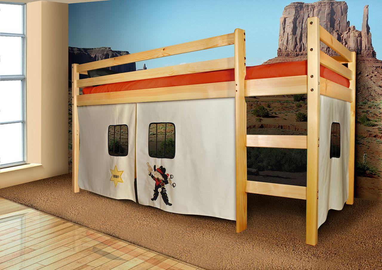 Vorhang Set Etagenbett : Vorhangset neues design sheriff für hochbet spielbett etagenbett