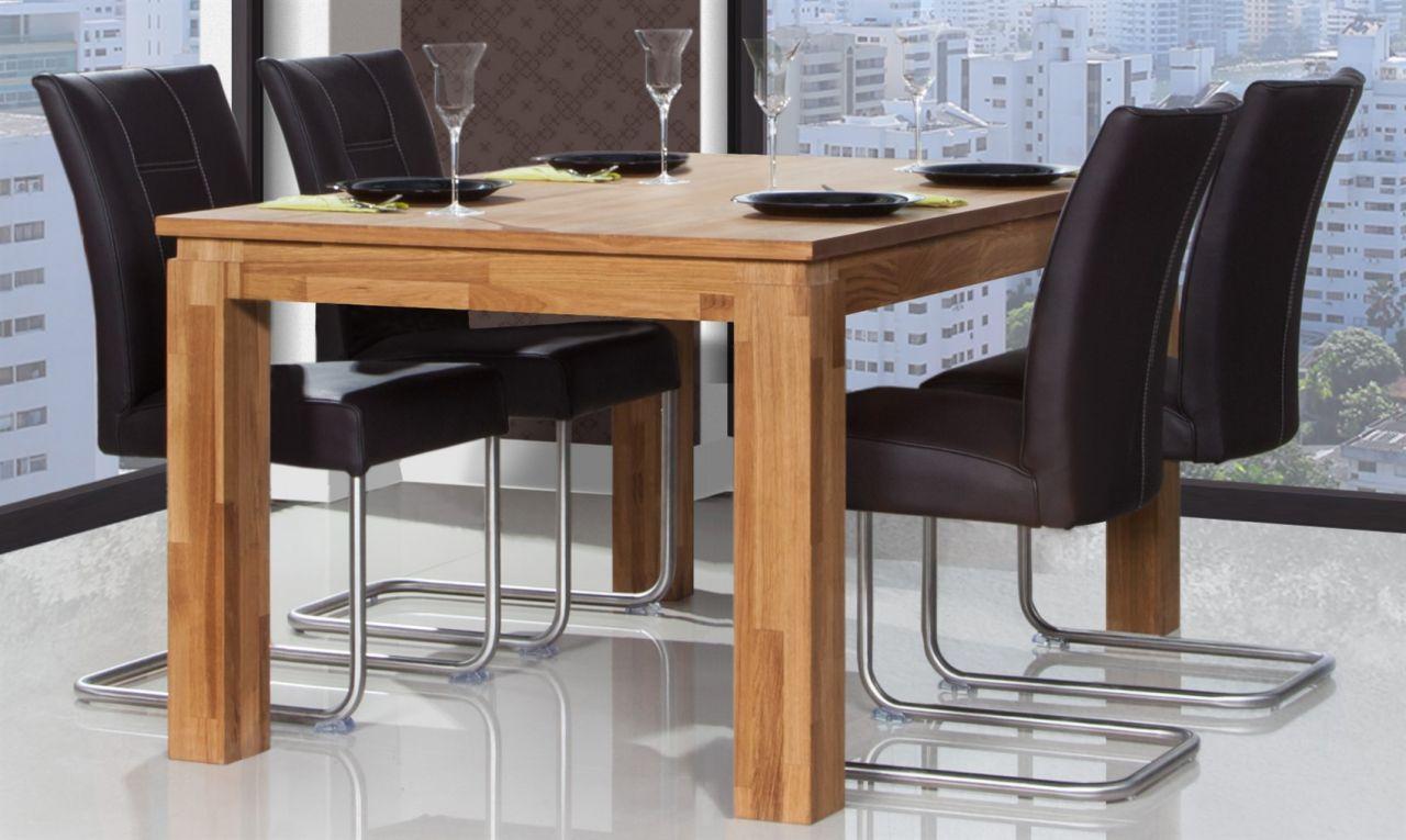 Esstisch Tisch Maison Eiche Massiv 160x80 Cm Kaufen Bei Sylwia