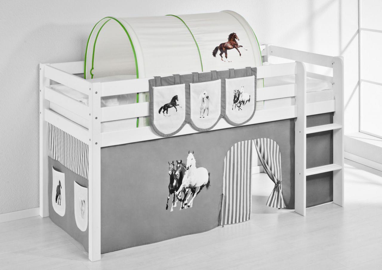 Etagenbett Zubehör Tunnel : Tunnel pferde grün für hochbett spielbett und etagenbett