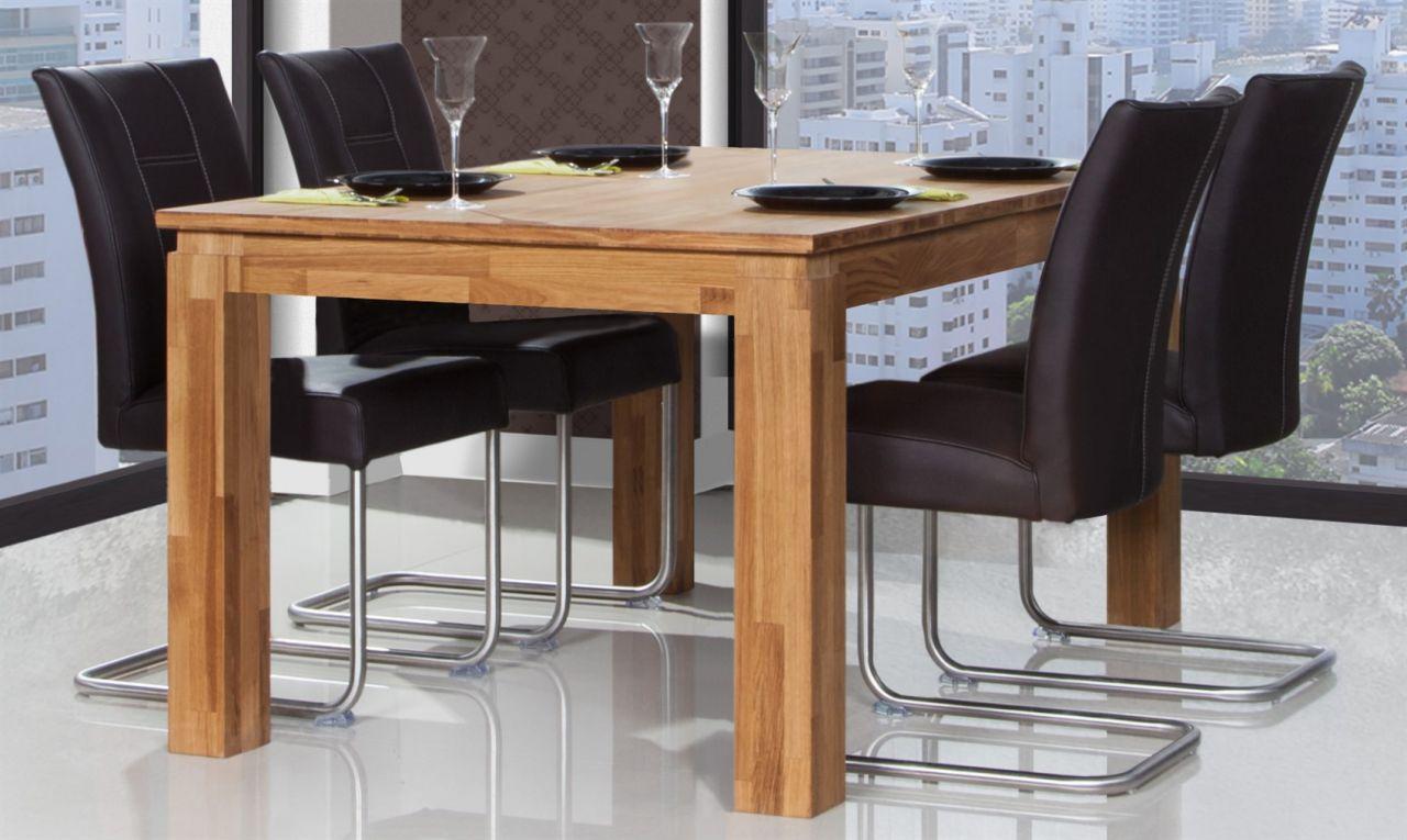 Esstisch Tisch Ausziehbar Maison Eiche Massiv 160250x90 Cm Kaufen