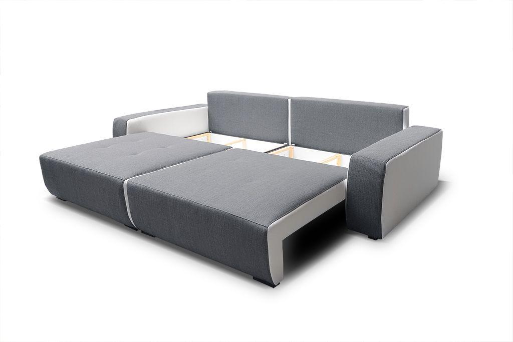 Big Sofa Couchgarnitur Reggio Megasofa Mit Schlaffunktion Weiss Grau