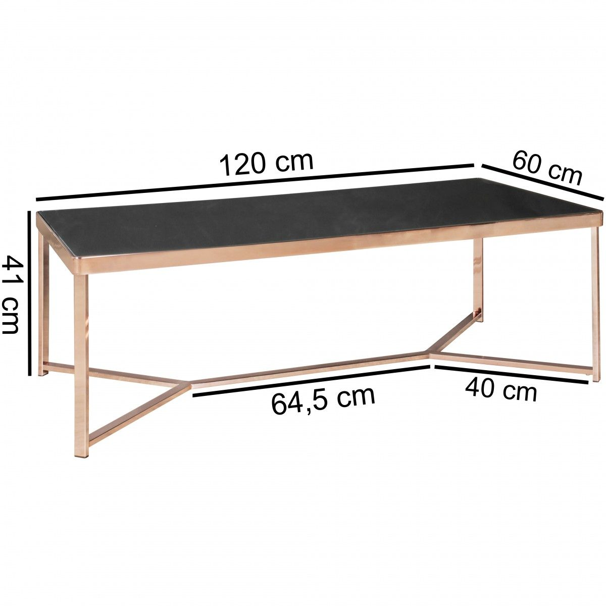 couchtisch tisch charms 120x40 cm metall glas schwarz. Black Bedroom Furniture Sets. Home Design Ideas