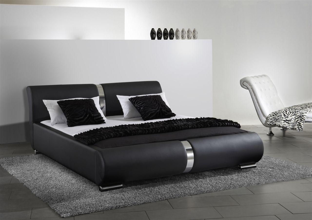 Polsterbett Bett Doppelbett Dakar Komplettset 200x200 Cm Schwarz