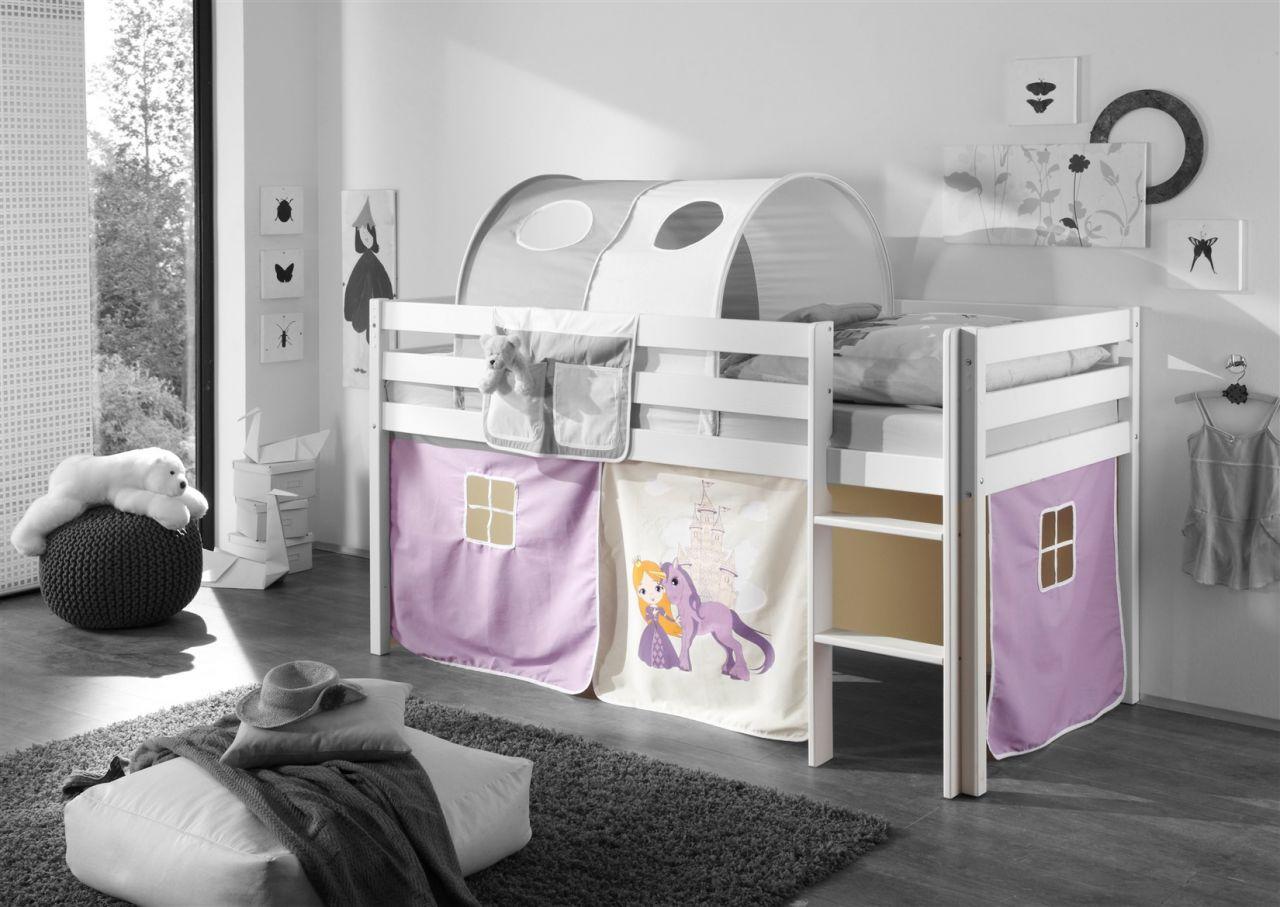 Etagenbett Prinzessin : Vorhang 3.tlg prinzessin lila beige für spielbett hochbett