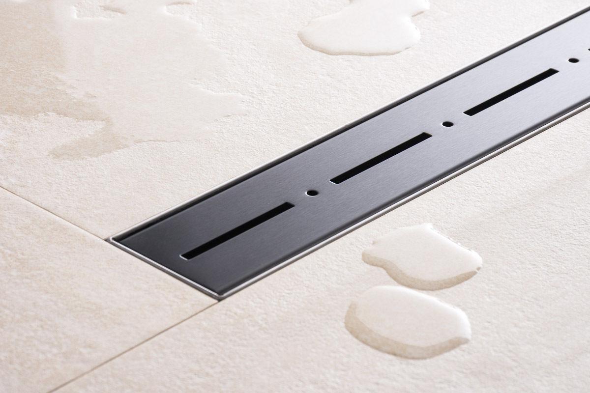 duschrinne dusch badablauf bodenablaufrinne nr.2 - 50 cm/ schwarz