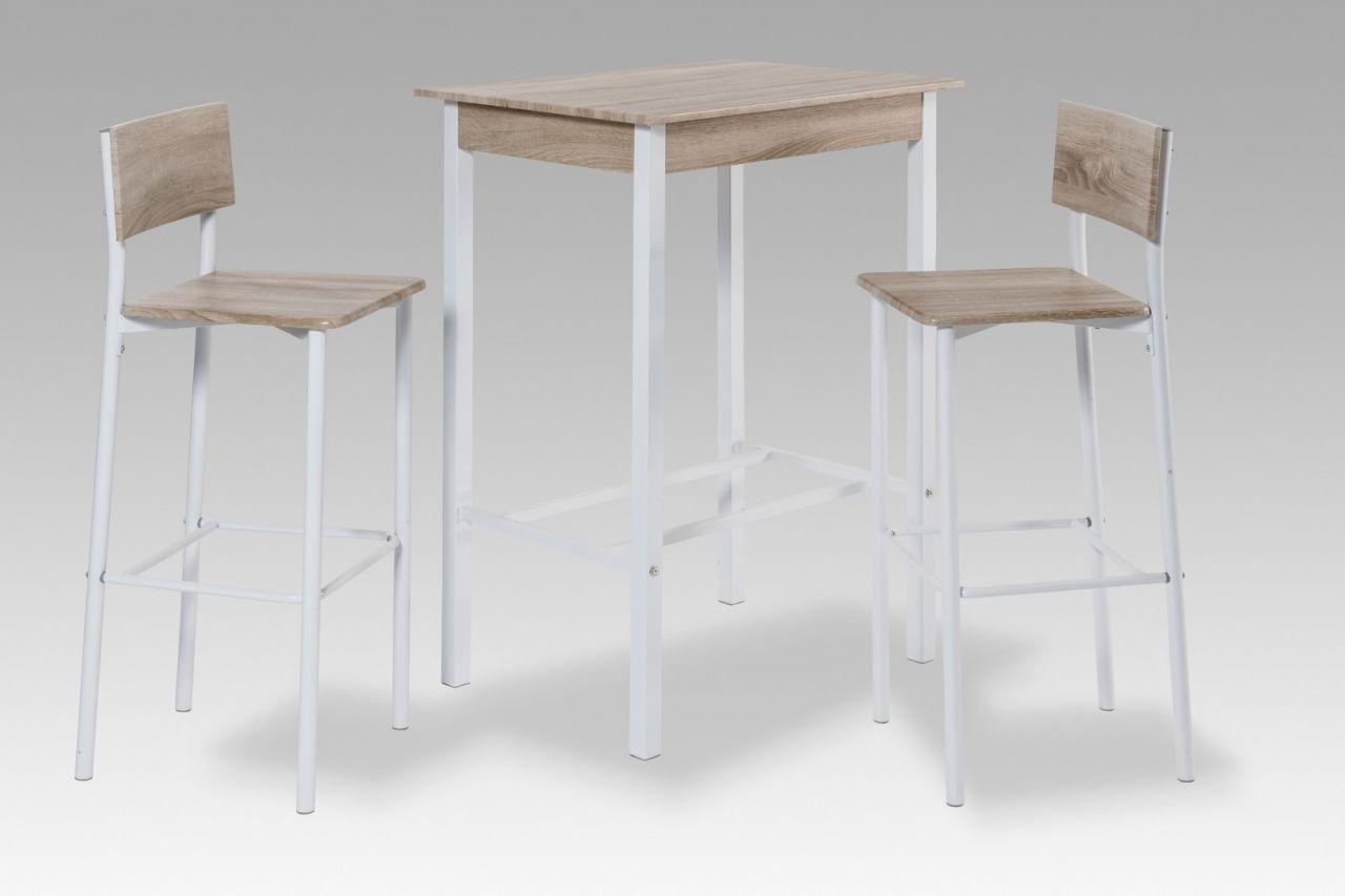 Bartisch Tisch Set - CASSINO - 1 x Bartisch und 2x Barhocker ...