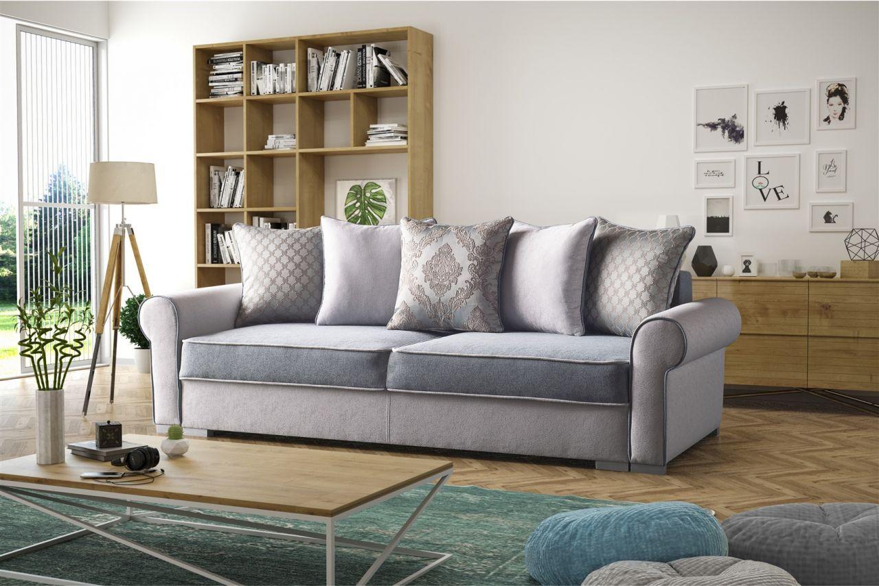 Polstersofa sofa 3 sitzer denise mit schlaffunktion for 3 sitzer mit bettfunktion