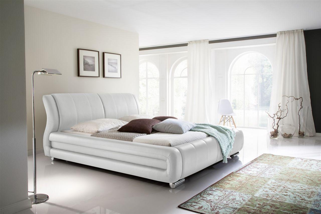 Brilliant Doppelbett Weiß 180x200 Dekoration Von Polsterbett Bett Tagesbett - Lima - Cm
