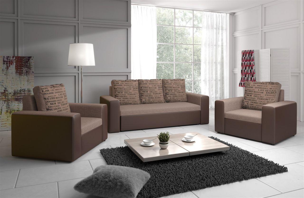 sofa set leeds 3 1 1 sofagarnitur in kunstleder webstoff. Black Bedroom Furniture Sets. Home Design Ideas