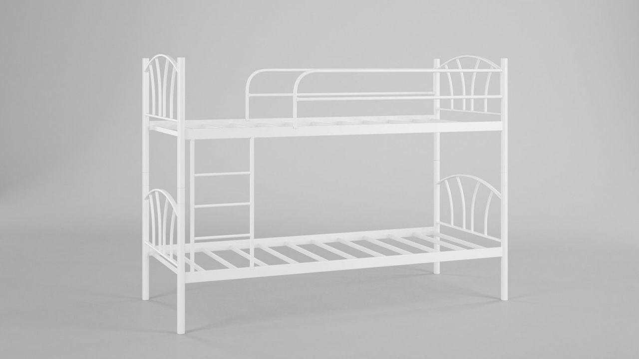 Etagenbett Weiß Metall : Metallbett lady weiß hochbett in zwei einzelbetten teilbar