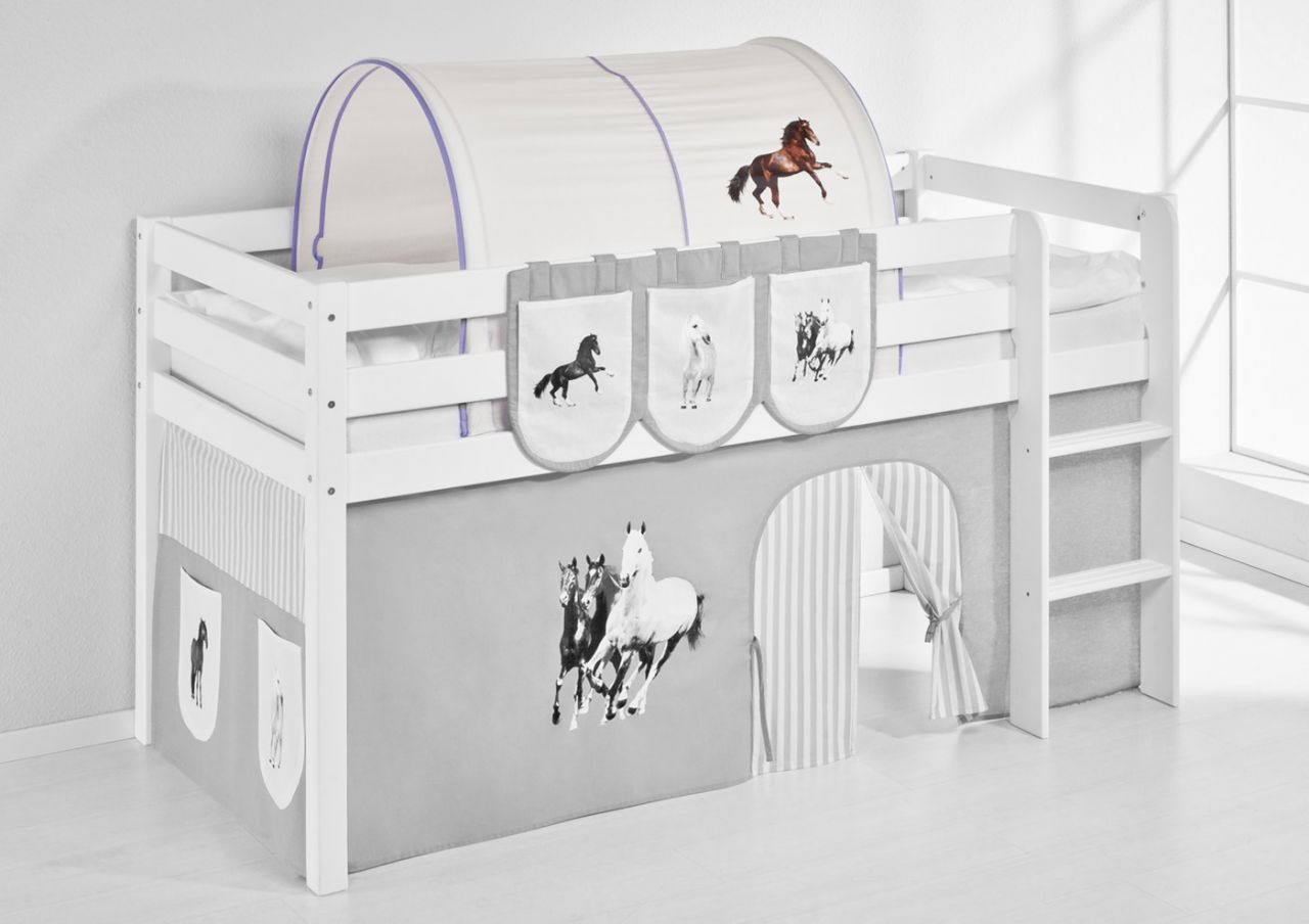 Etagenbett Tunnel : Tunnel pferde lila für hochbett spielbett und etagenbett