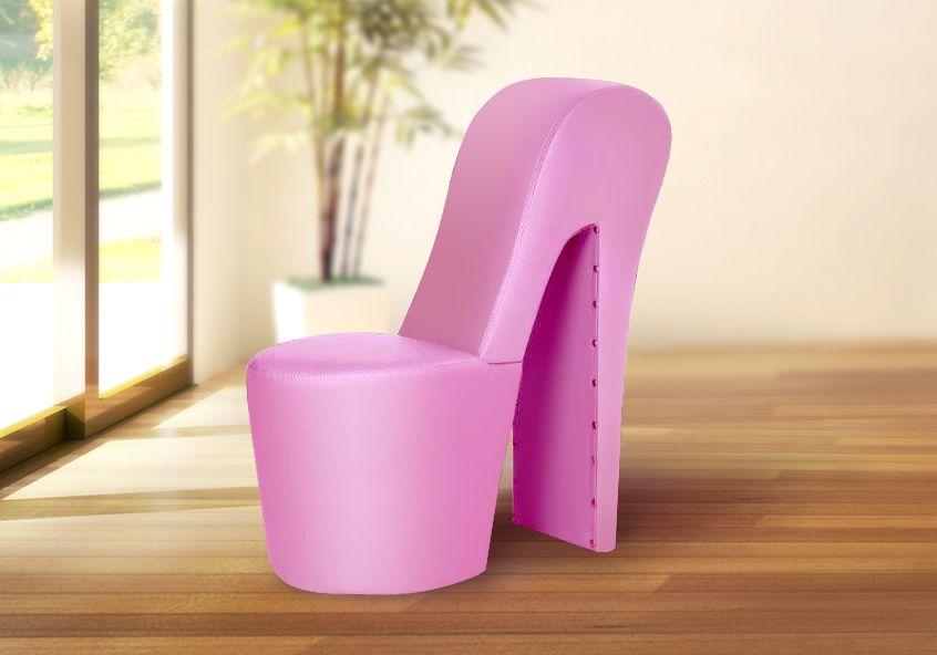 Schuhsessel Designer Sessel Donna Pink High Heel Sessel