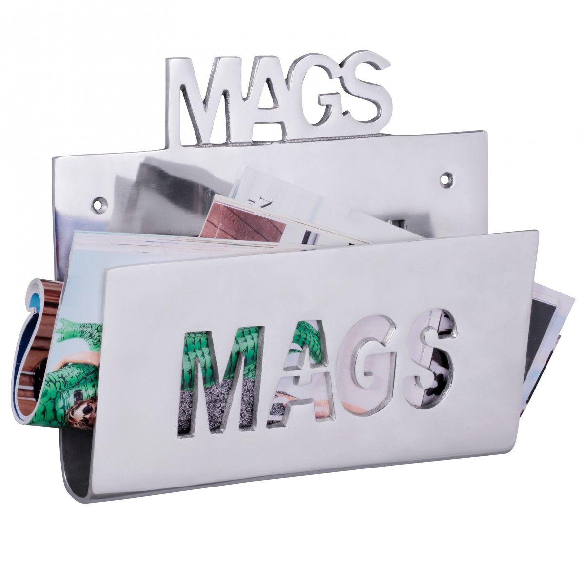 Deko Magazinhalter MAGS Für Die Wand Aus Aluminium Farbe Silber 1 ...