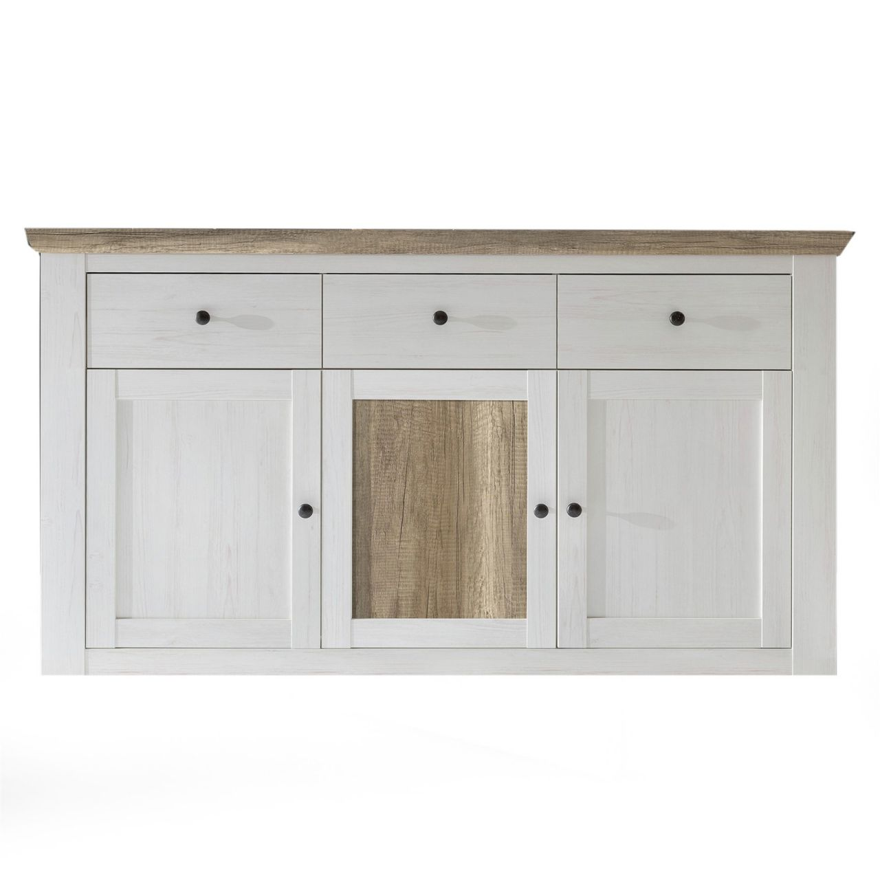 Sideboard Kommode Porto Anderson Kiefer Weiss Canyon Eiche