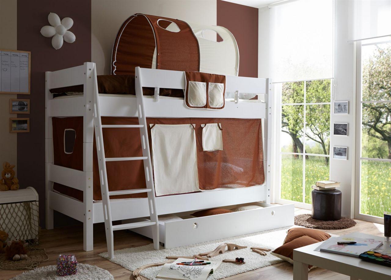 Etagenbett Weiss Buche Massiv : Flexa hochbett zu etagenbett umbauen u schöne niklas