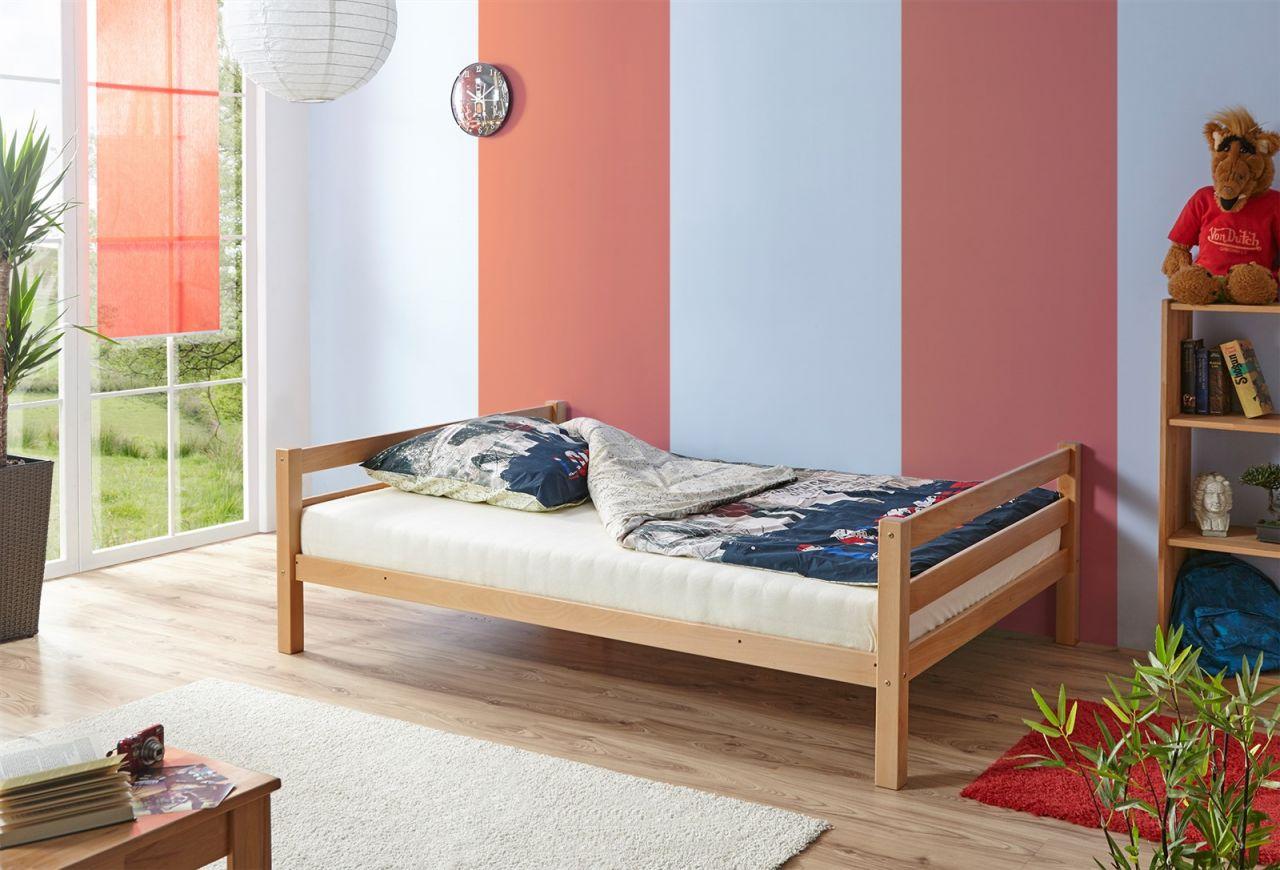 Etagenbett Oben 90 Unten 140 : Etagenbett hochbett mats zwei liegeflächen 140 und 90 cm buche natur