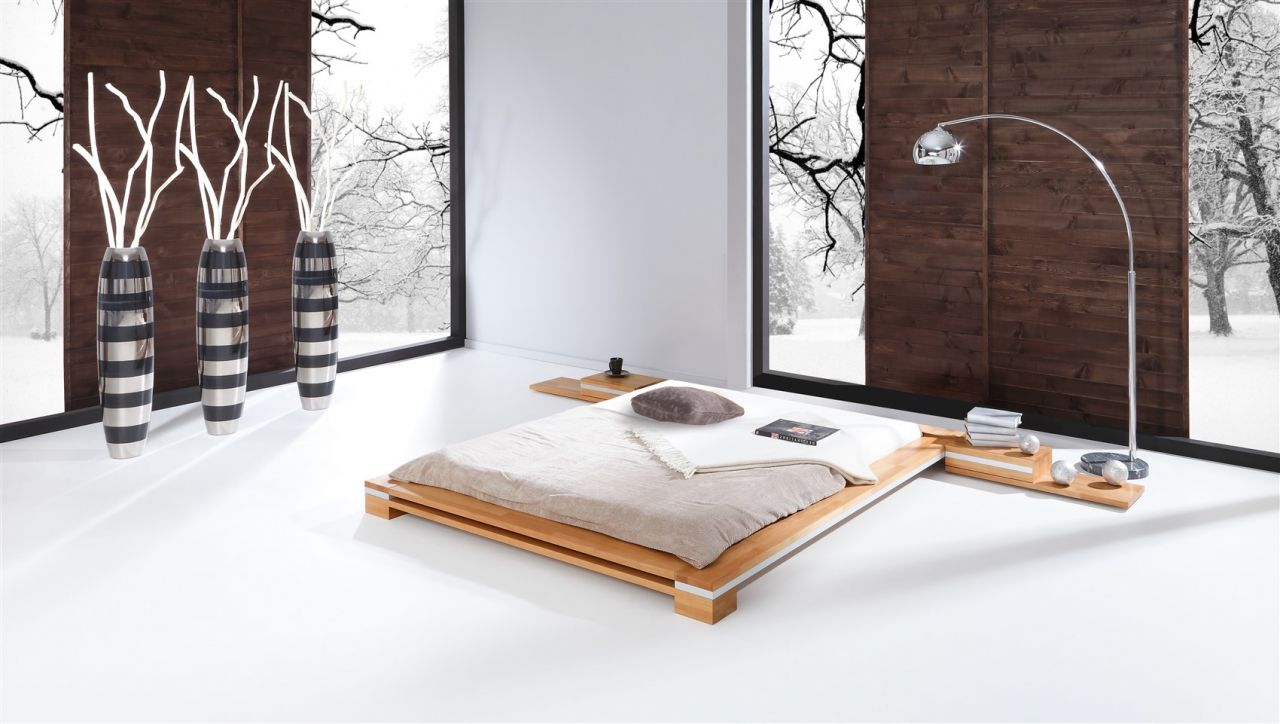 Massivholzbett Bett Schlafzimmerbett TOKYO Buche massiv 200x200 cm ...