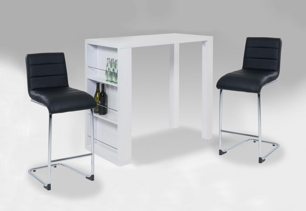 Bartisch Tisch Pc 69 120 X 60 X 108 Cm In Hochglanz Weiss