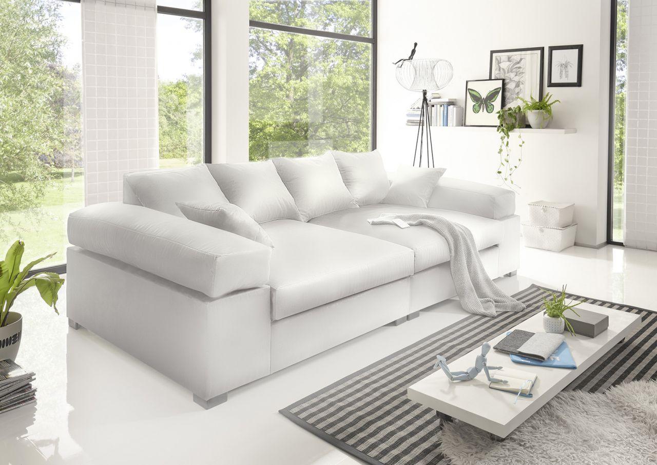 Big Sofa Couchgarnitur Megasofa Riesensofa Arezzo Kunstleder Weiss