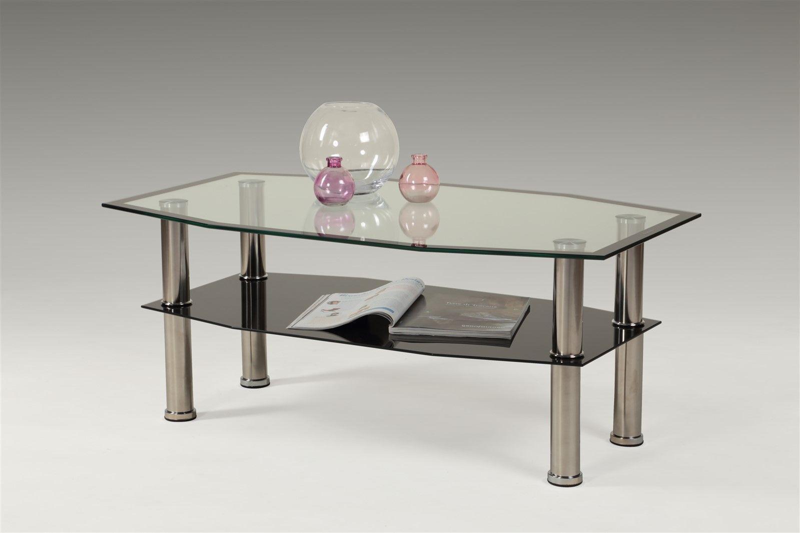 Couchtisch Chrom Glas ~ Couchtisch tisch tibor 100x60 cm schwarz chrom esg glas kaufen