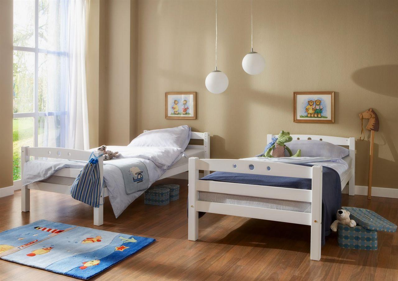 Etagenbett Teilbar Mit Rutsche : Etagenbett oli mit rutsche buche weiss inkl vorhang blau