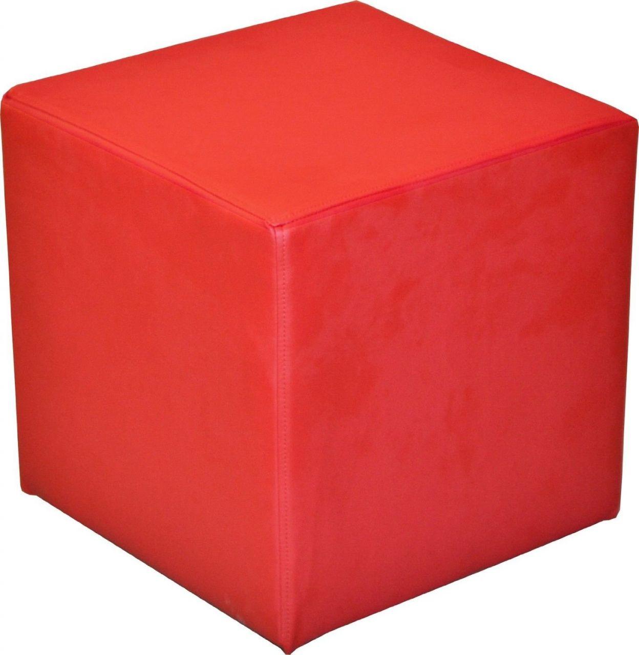 Sitzwurfel Sitzhocker Schminkhocker Hocker Sessel Kunstleder Rot