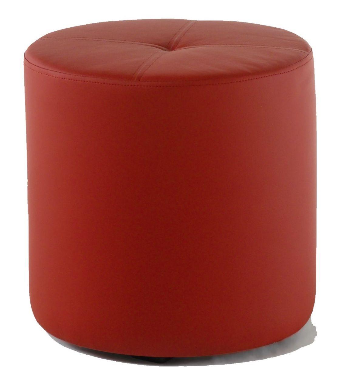 Rundhocker Sitzhocker Schminkhocker Hocker Sessel Kunstleder Rot 43